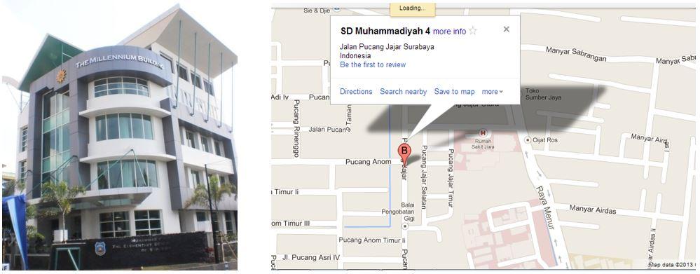 Contoh Laporan Akhir PKM M - Gambar Bangungan SD Muhammadiyah 4 Surabaya
