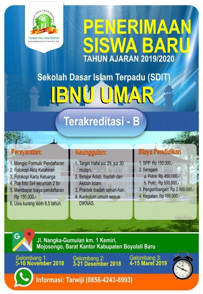 Contoh Iklan Pendidikan beserta gambarnya Sekolah Dasar Islam Terpadu (SDIT)