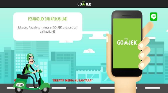 Contoh iklan komersial aplikasi smartphone Gojek