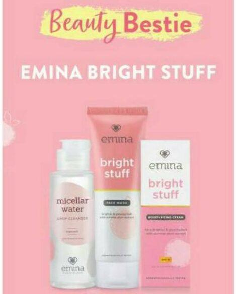 Contoh iklan komersial kosmetik Emina bright stuff cream