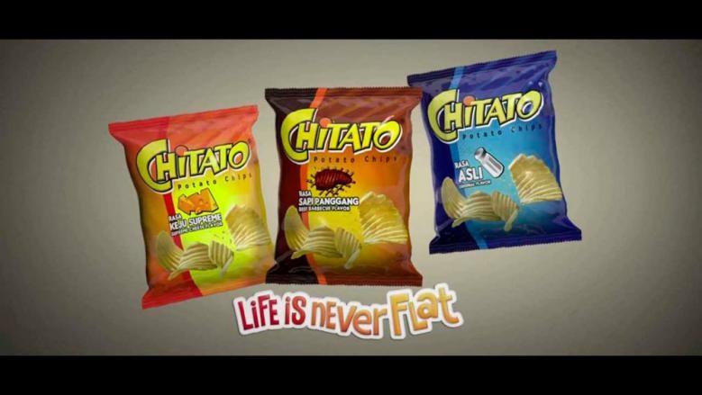 Contoh iklan komersial makanan Chitato