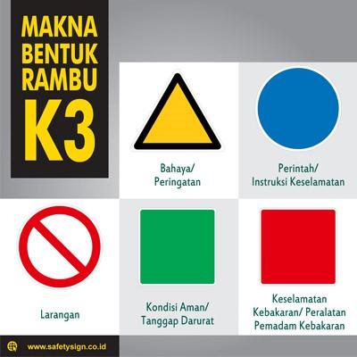bentuk, simbol dan warna pada rambu-rambu K3
