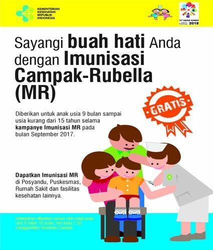 Contoh Iklan Non Niaga Imunisasi Campak-Rubella (MR)