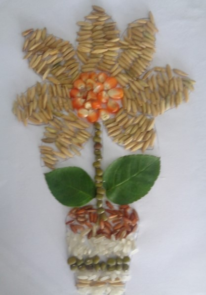 mozaik bunga tiga dimensi