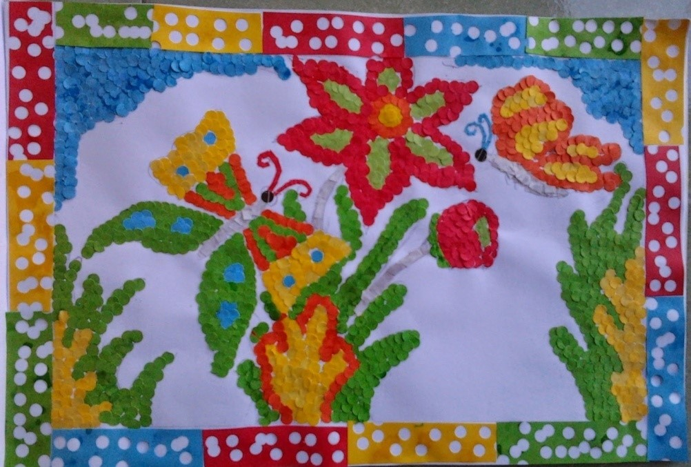 ntoh Gambar Mozaik Bunga