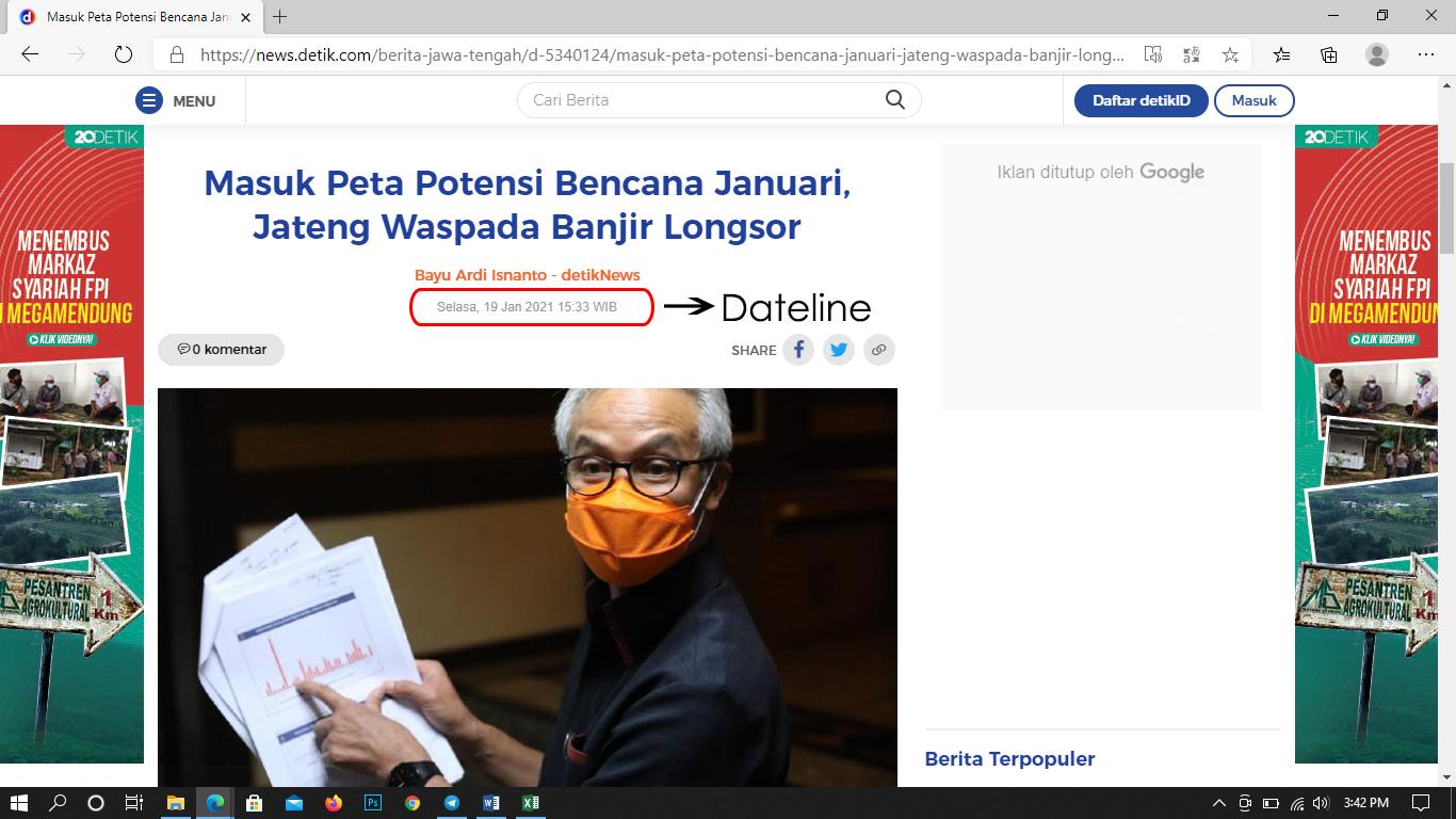 contoh dateline dalam sebuah berita