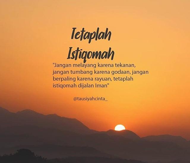 Contoh Kata-kata Istiqomah 5