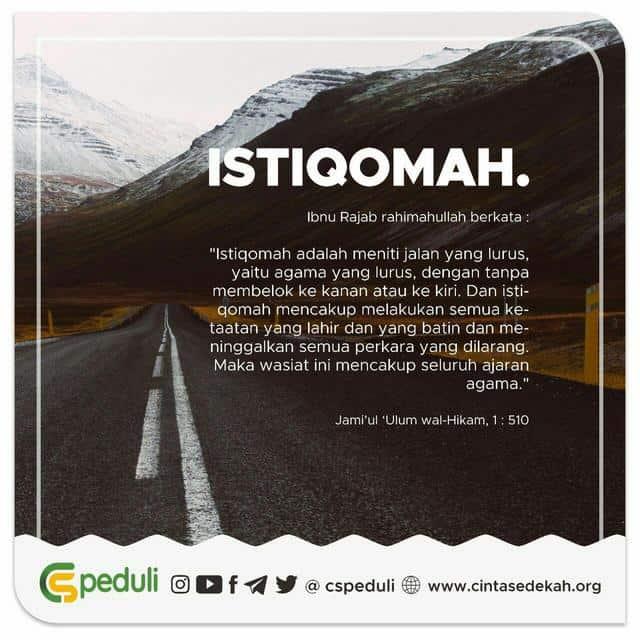 Contoh Kata-kata Istiqomah 9